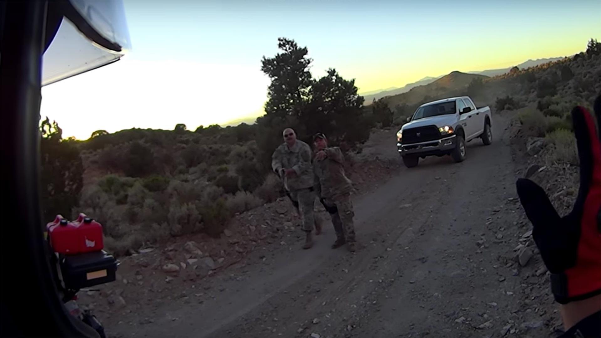 motorcyclists held at gunpoint at border of area 51