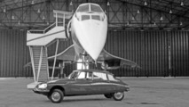 Citroen DS with Concorde circa 1975 23.12.2011