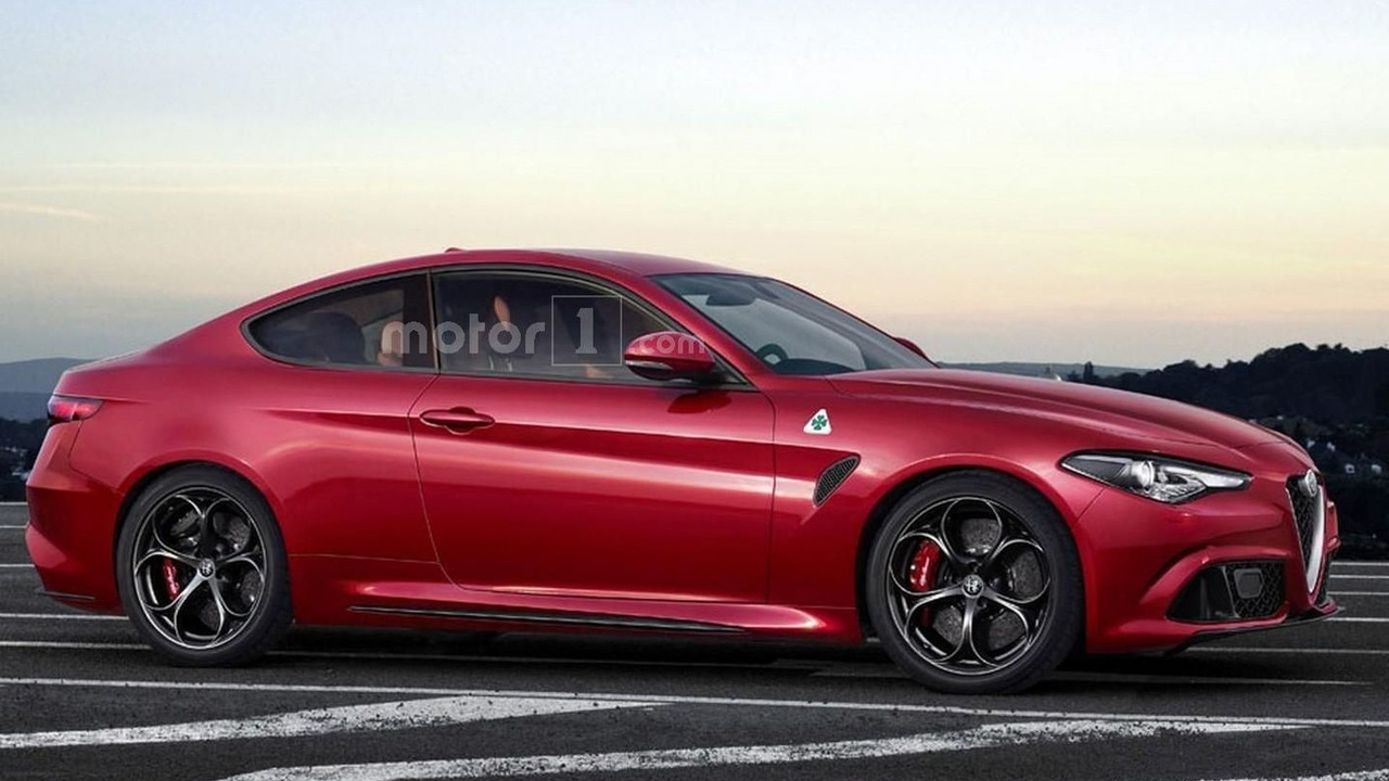Alfa Romeo Giulia Coupe speculative render