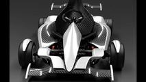 Foldable go-kart with F1 flair