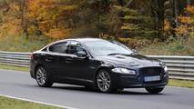 2016 Jaguar XF mule spied on the Nordschleife