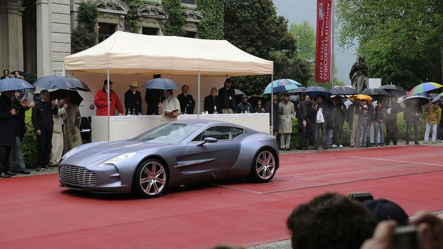 Aston Martin one-77 Unveiled at Concorso d'Eleganza