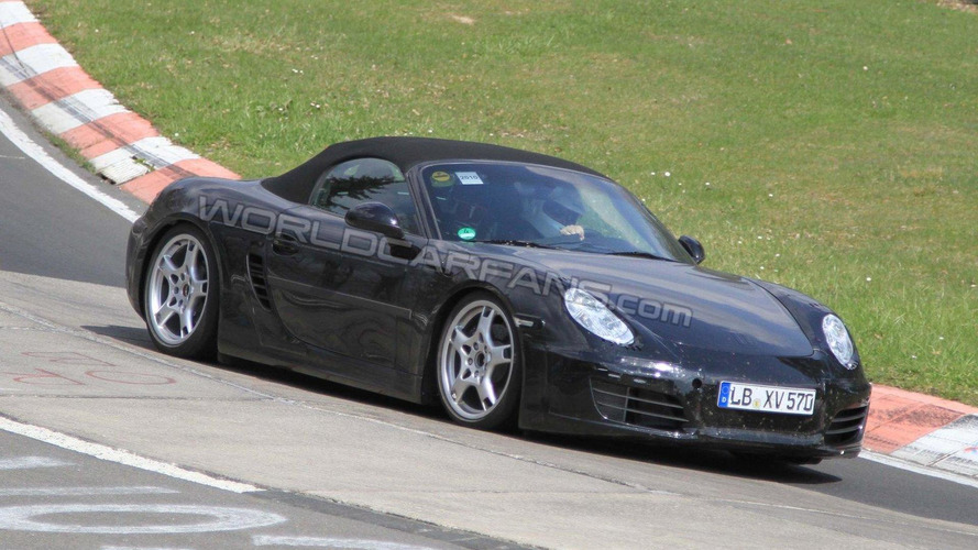 2012 Porsche Boxster spied showing more skin at the Nurburgring
