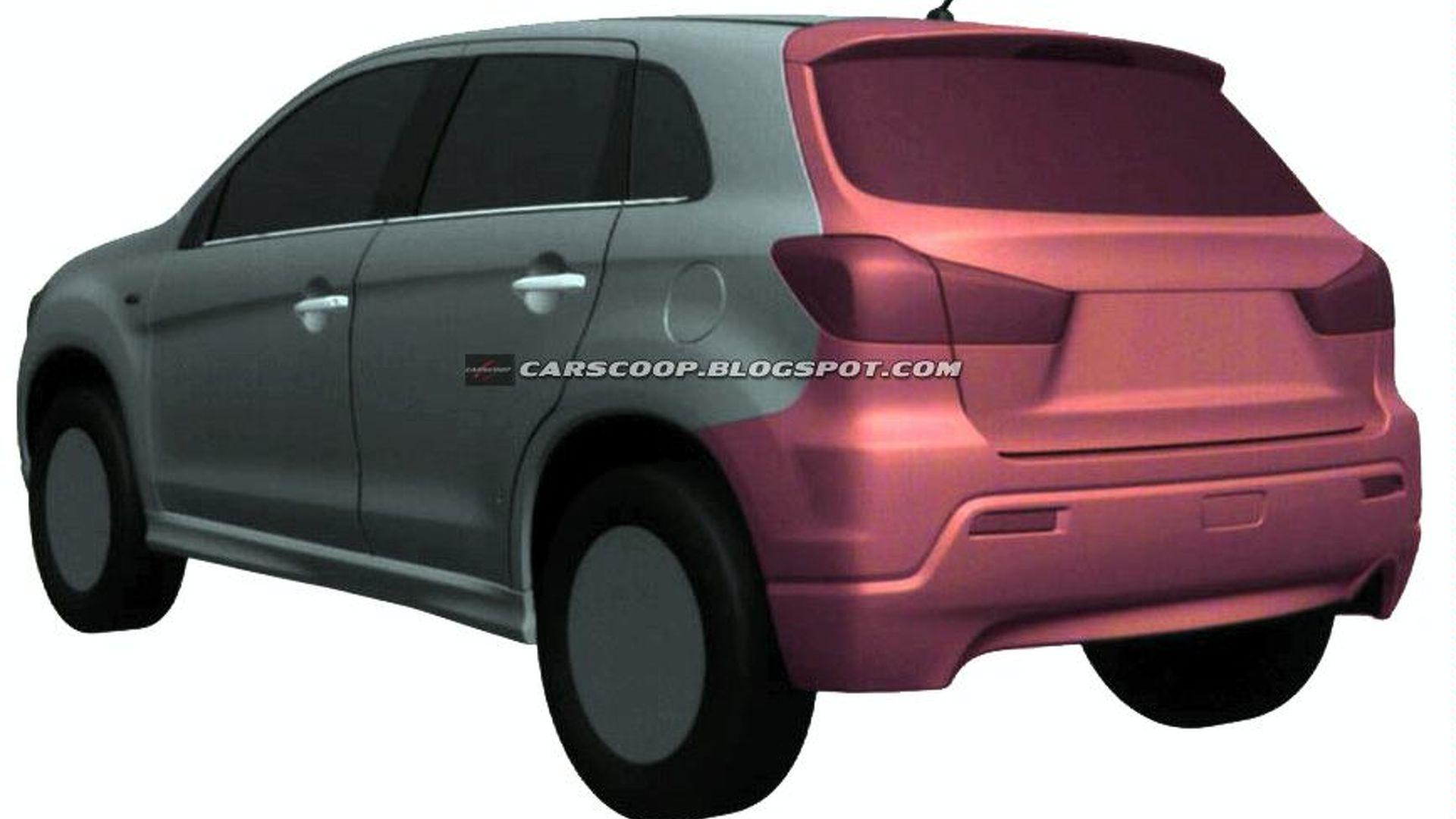 Mitsubishi Compact Crossover Design Illustrations Uncovered