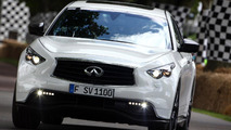 Sebastian Vettel drives namesake Infiniti FX for first time - Euro pricing announced