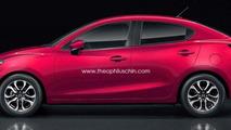 2015 Mazda2 / Demio Sedan render