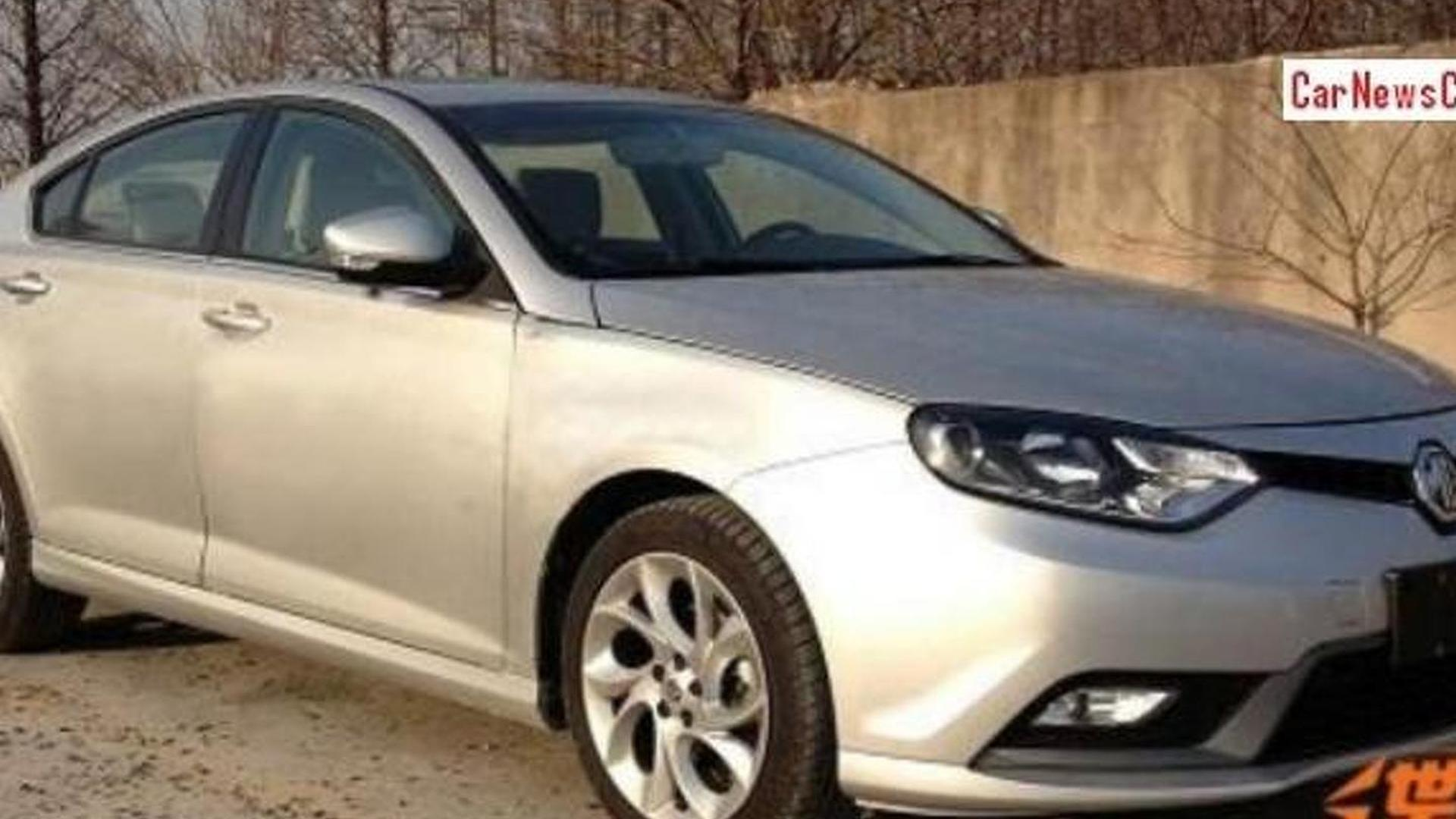 2015 MG6 facelift spied without disguise