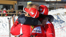 Fernando Alonso, Felipe Massa, Luca di Montezemolo at Wrooom 2012 in Madonna di Campiglio 12.01.2012