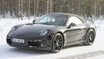 2011 Porsche 991 Cabrio winter tes spy photos 10.03.2010