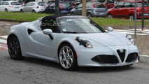 Alfa Romeo 4C Spider spied undergoing testing ahead of 2015 launch