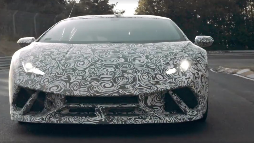 Lamborghini Huracan Performante teases its Nurburgring record