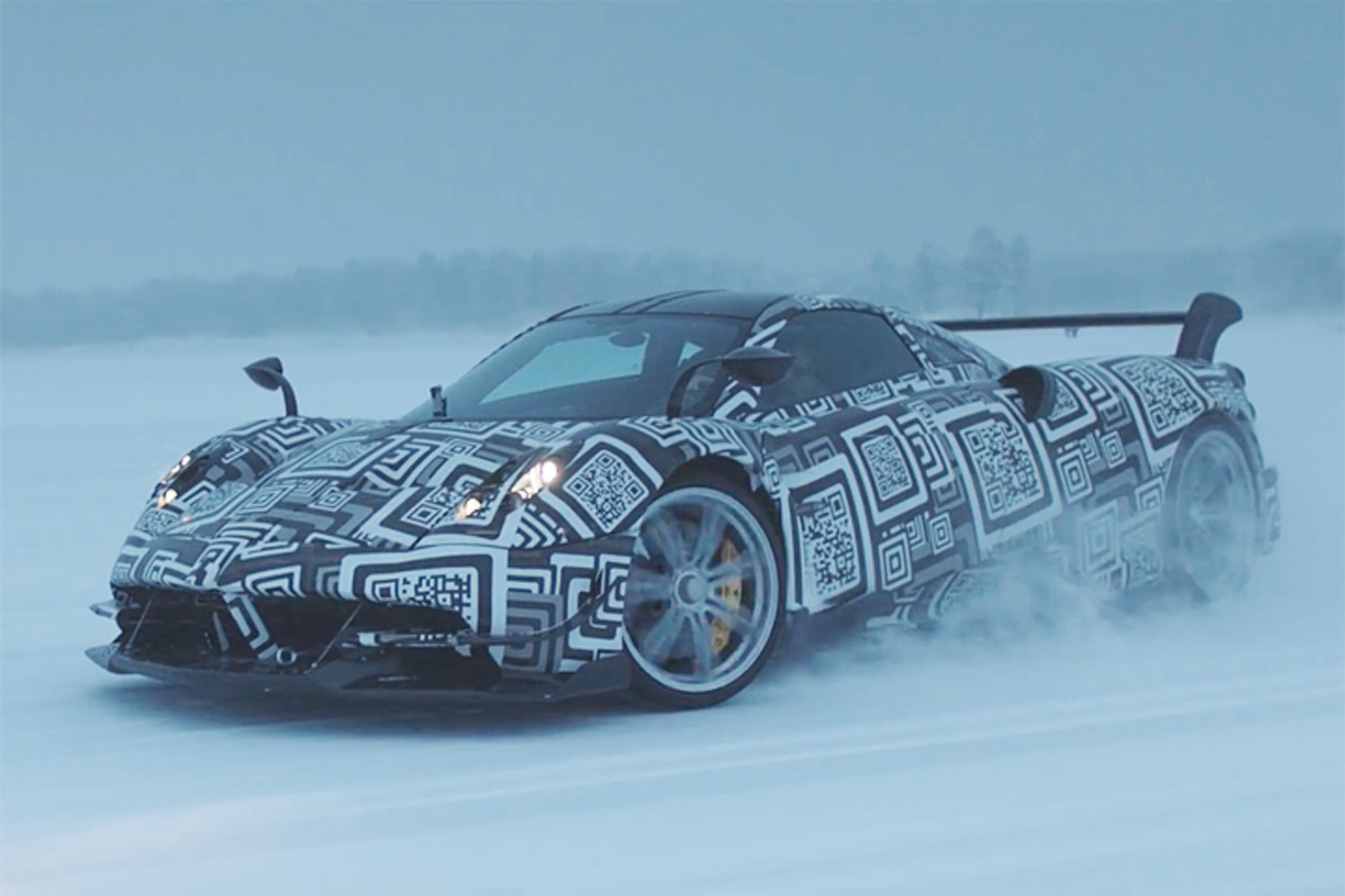 Watch the 750HP Pagani Huayra BC Drift in the Arctic Circle
