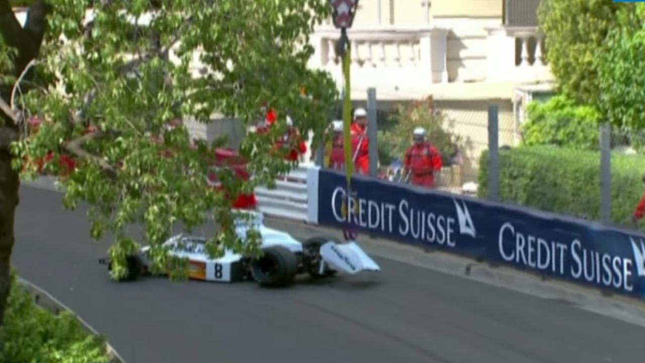 McLaren M23 dropped at Monaco