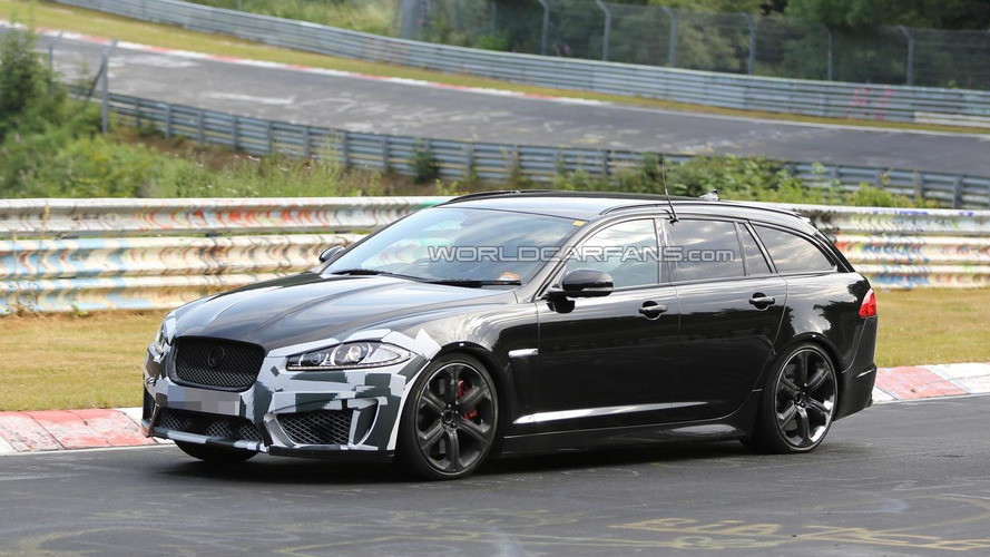 Jaguar XFR-S Sportbrake spied testing at the Nurburgring