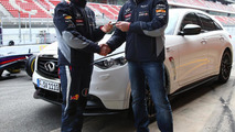 Sebastian Vettel takes delivery of namesake Infiniti FX