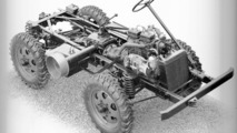 Unimog chassis with diesel engine from 1949