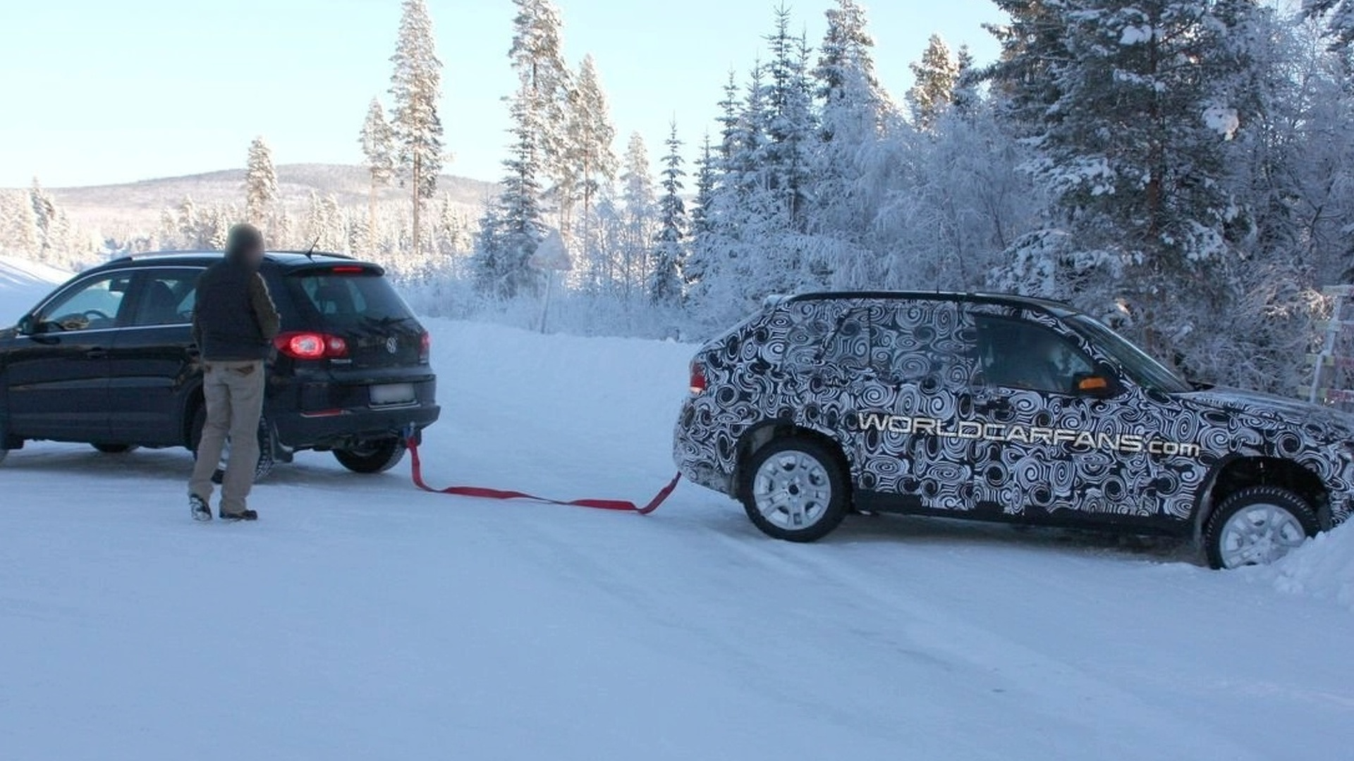 BMW X1 Gets Stuck in Snow Bank