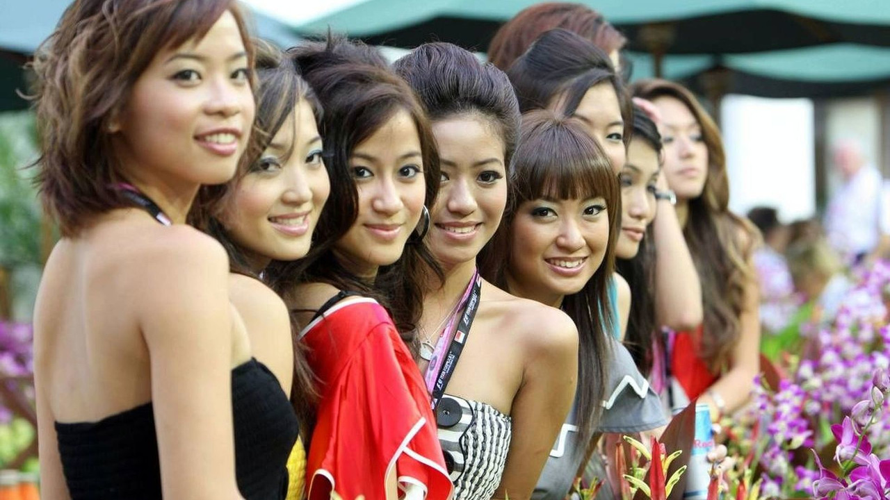 Singapore Girls, Singapore Grand Prix, Singapore City 28.09.2008