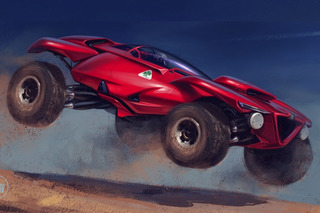 This Off-Road Alfa Romeo Concept Was Designed for the Dunes