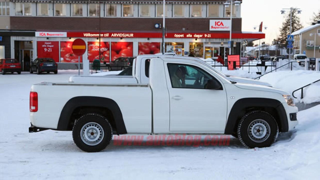 Segredo: Nova VW Amarok Cabine Simples é flagrada sem disfarces na Suécia