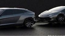 Future Lamborghini SUV rendered, could actually happen in 2017