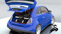 Fiat 500 with Ferrari V8 by Lazzarini Design