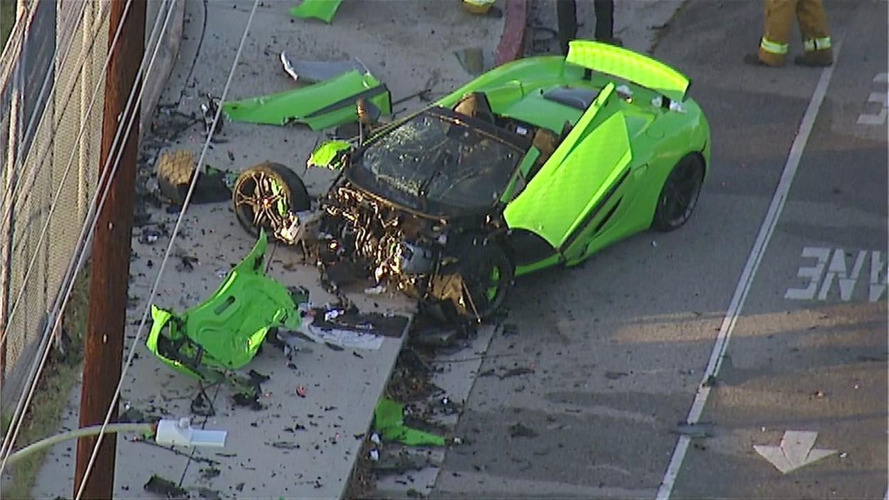 McLaren 650S Spider destroyed in alleged street race gone wrong