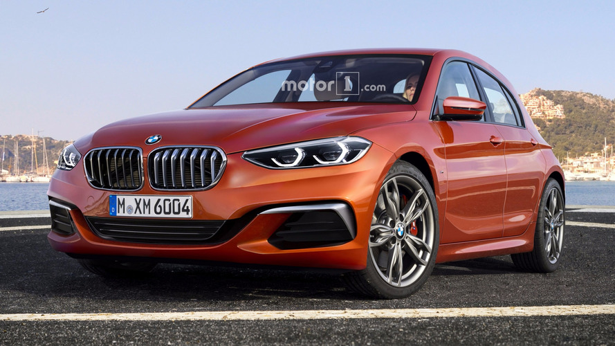 2019 BMW 1 Series render sees into the hatch's FWD future