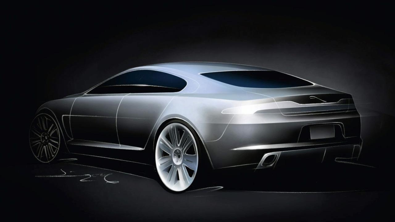 Jaguar C-XF concept design sketch