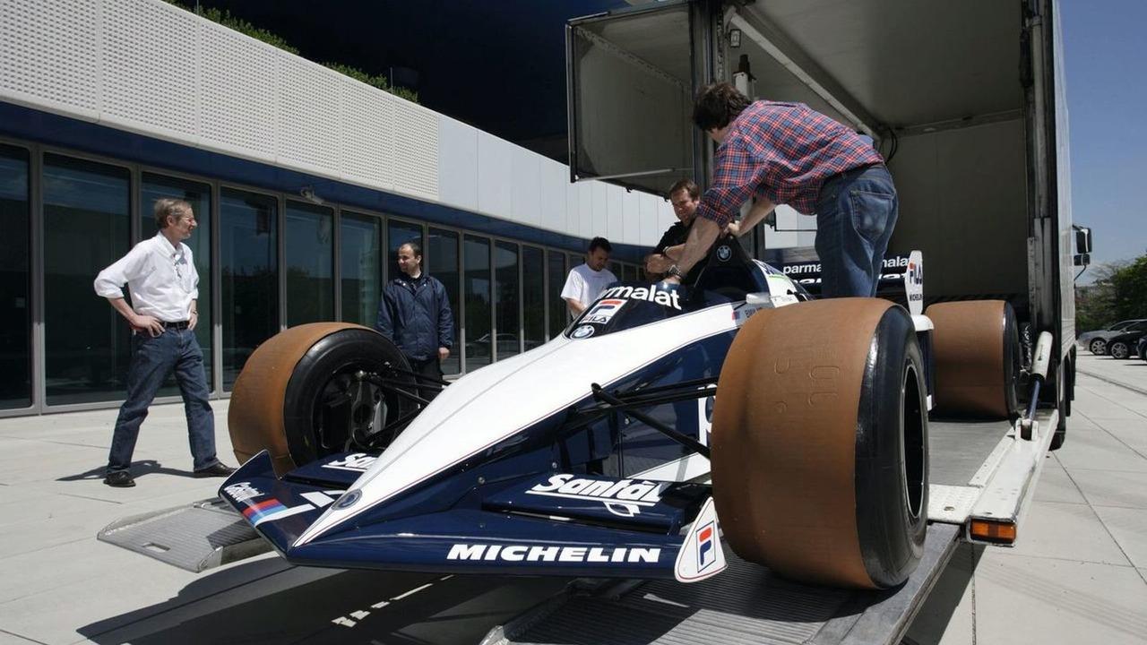Legendary Brabham BT 52 formula one race car heads into the BMW museum