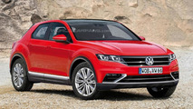 Volkswagen Polo-based crossover rendered to slot below Tiguan