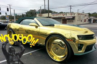 Custom Gold Chrome Camaro ZL1 is the Worst Thing Ever, Ever.