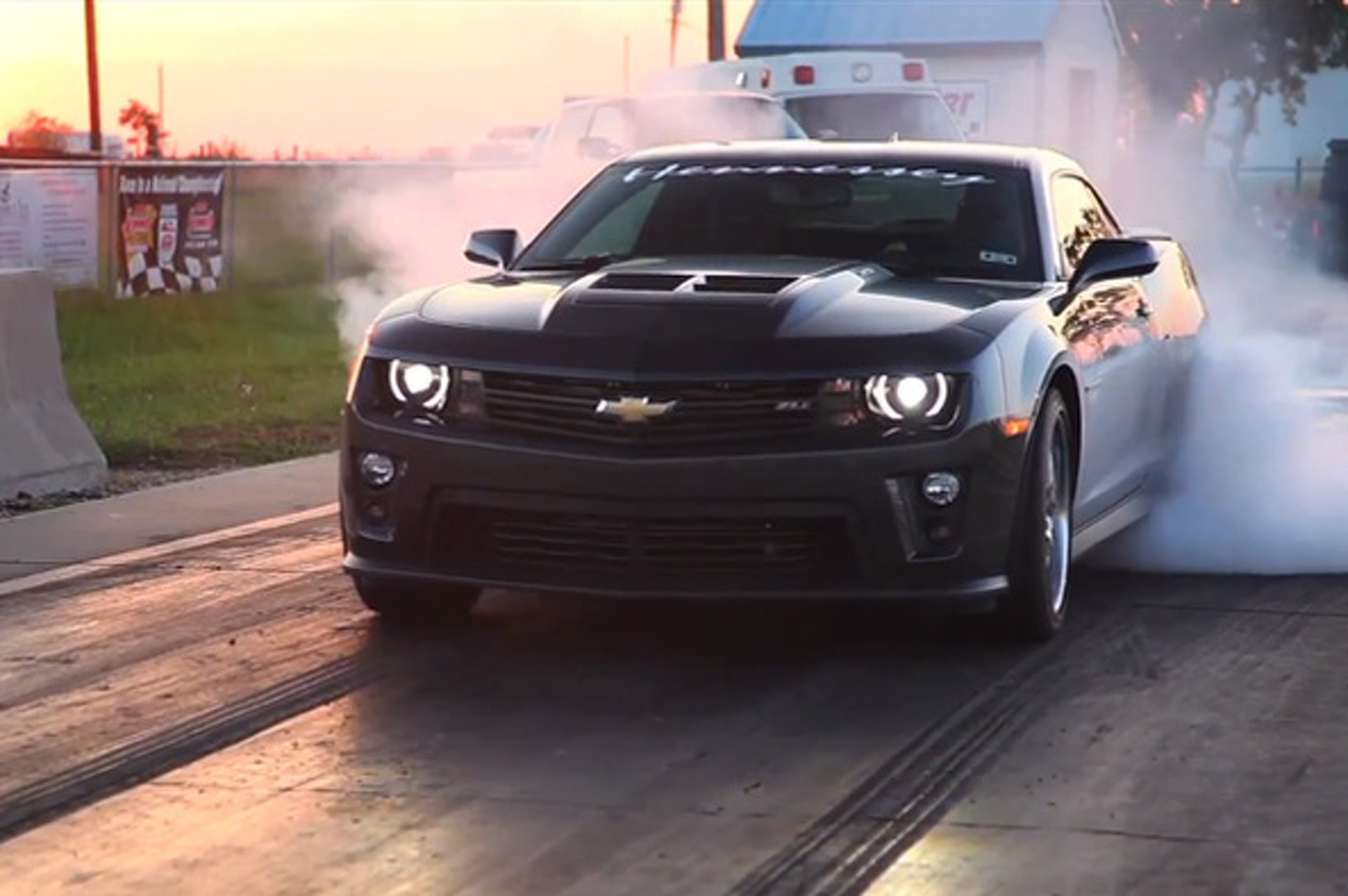 The 700-hp Hennessey HPE Camaro ZL1 Eats Tires, Expels Smoke
