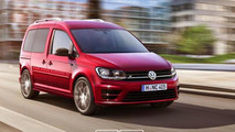 2015 Volkswagen Caddy GTI and R digitally imagined