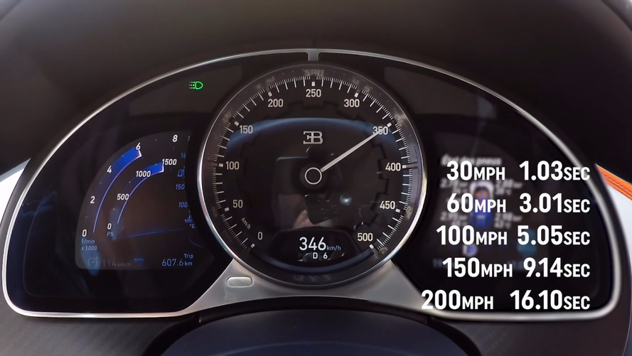 VIDÉO - La Bugatti Chiron lancée à 350 km/h en quelques secondes