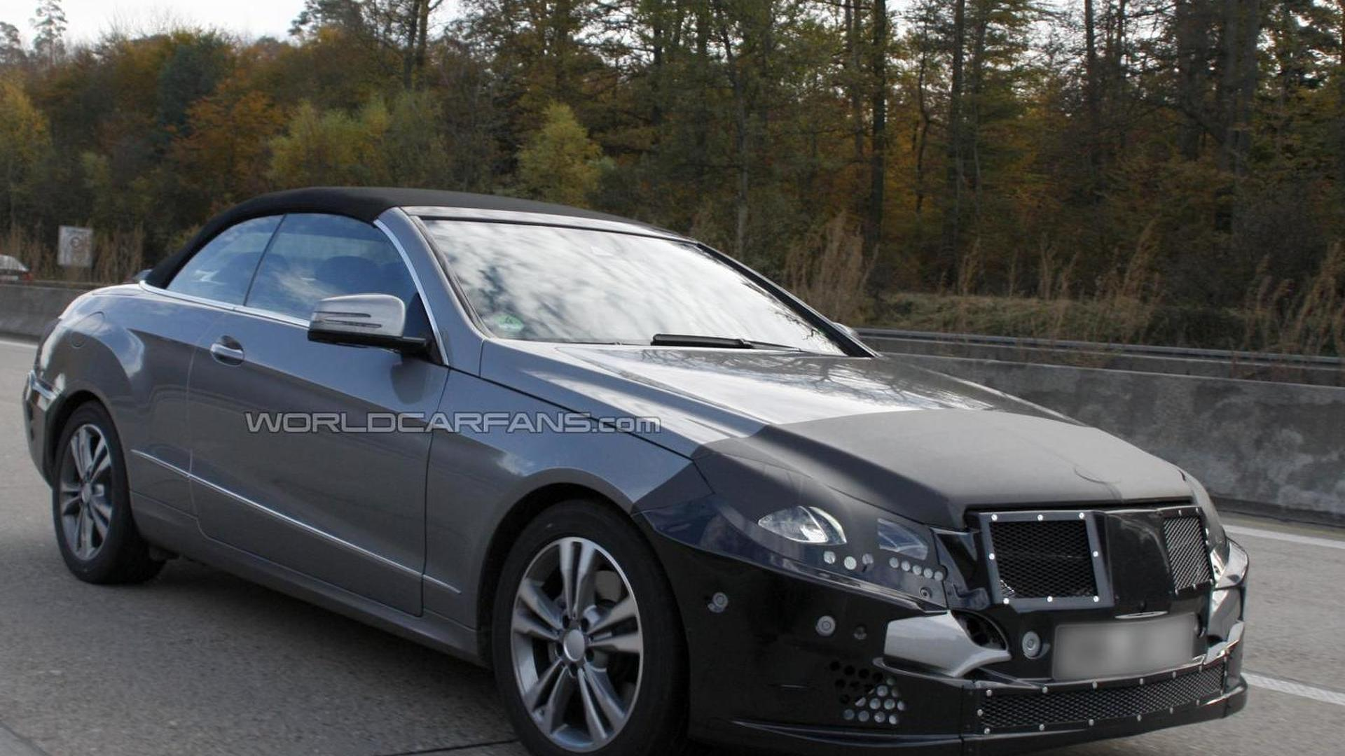 2014 Mercedes-Benz E-Class Cabrio facelift spied