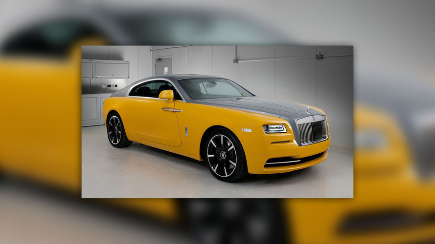 Rolls-Royce Wraith in Golden Yellow is another Bespoke creation