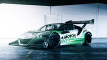 This is Acura's NSX-inspired 4-motor Pikes Peak EV car