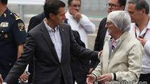 Enrique Pena Nieto, Mexican President with Bernie Ecclestone