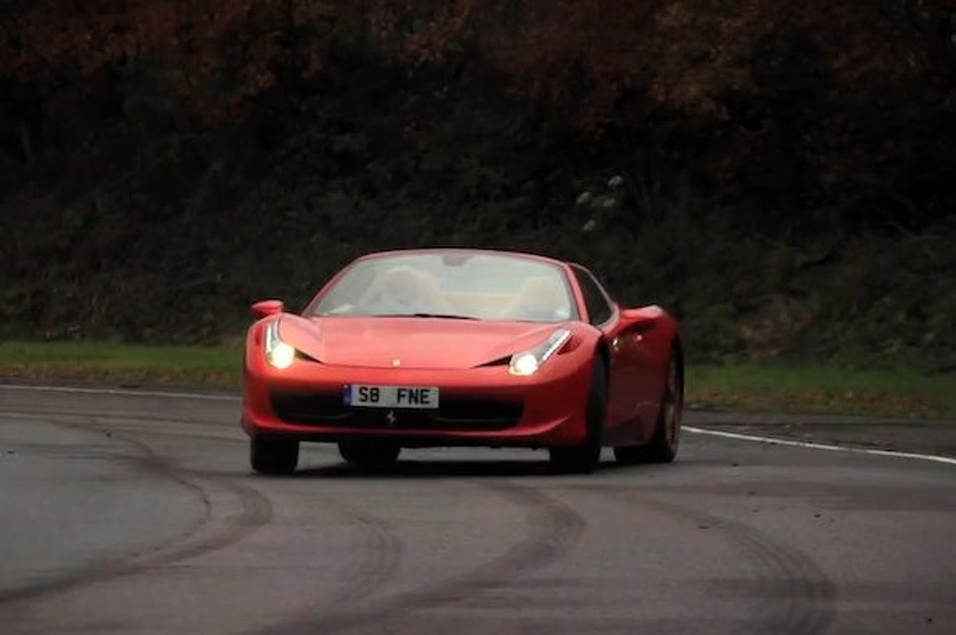 Chris Harris Steals Ferrari 458 Spider, Drives It Like Hell