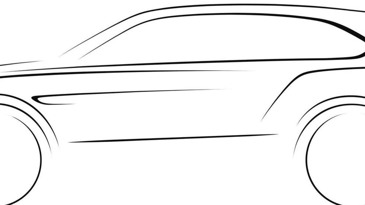 Bentley SUV design sketch