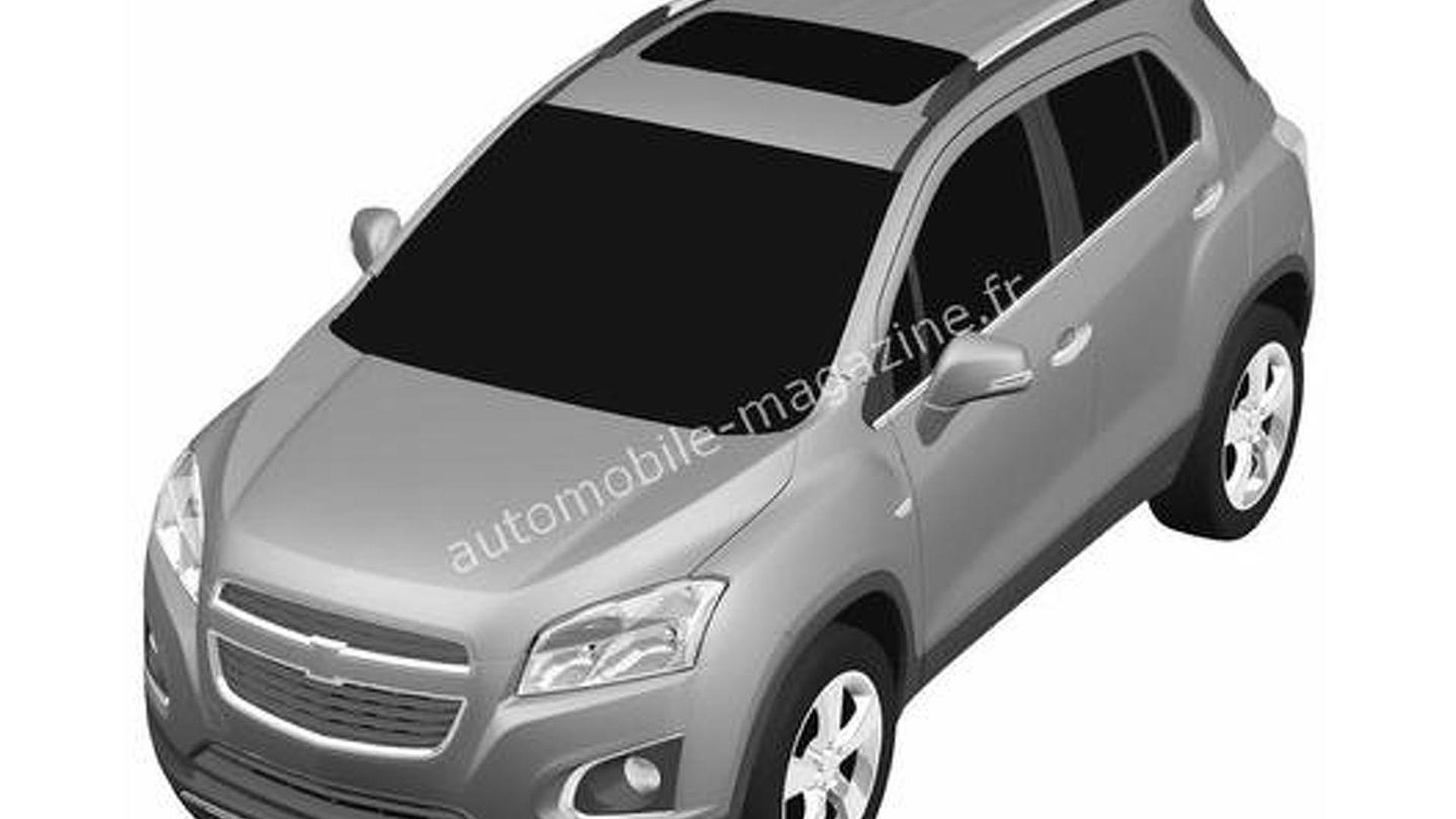 New Chevrolet crossover revealed in patent photos