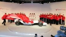 Toyota TF108 F1 Racecar Unveiled