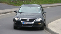 VW Passat test mule prototype spy photo at Nurburgring