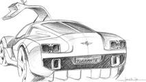 Gumpert Tornante by Touring development renderings, Centro Stile