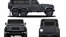 Kahn Design reveals six-wheeled Land Rover Defender for Geneva