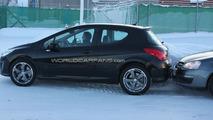 Peugeot 308 Mule Gets Stuck in Snow Bank