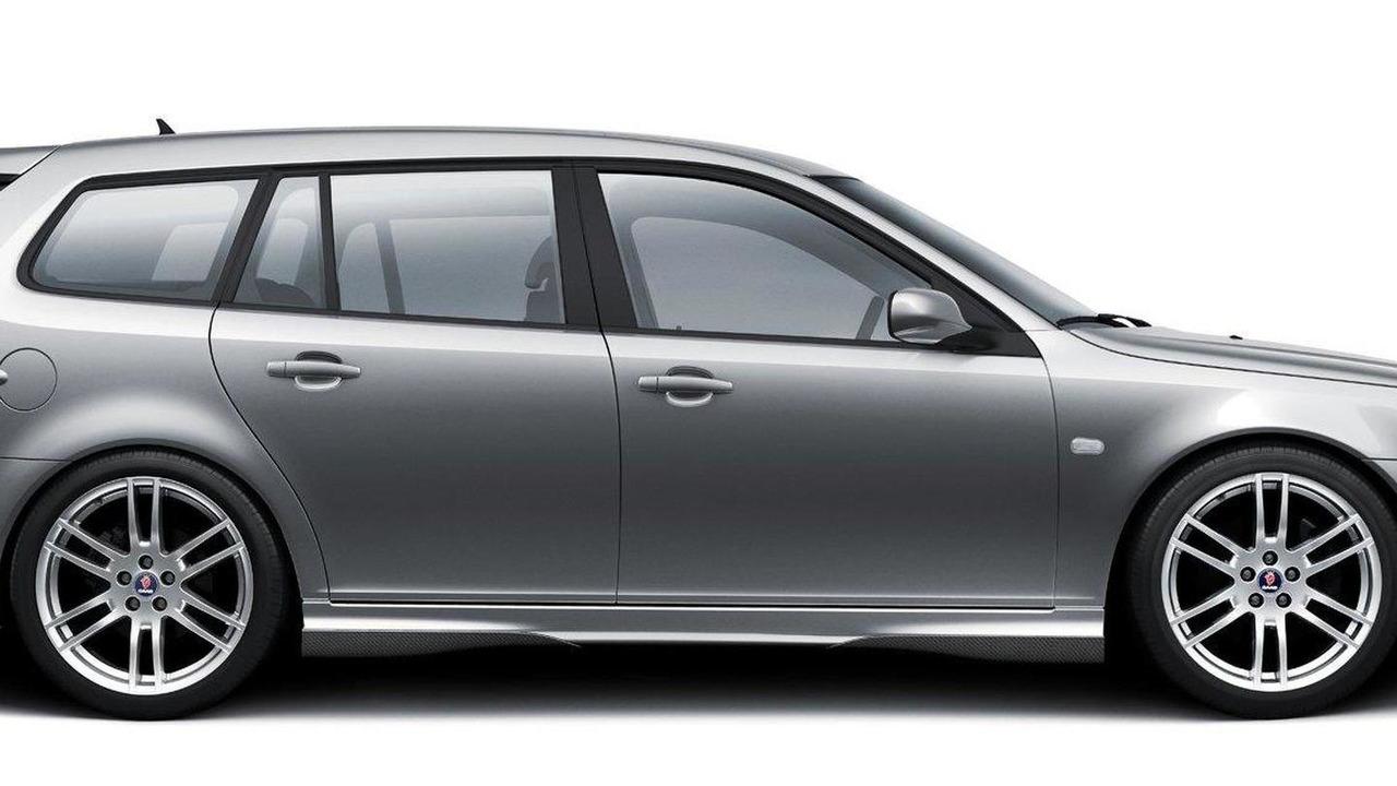Hirsch Performance aerodynamic package for Saab 9-3 combi, 11.01.2011