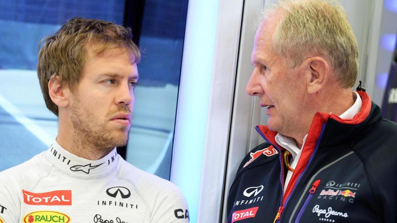 Sebastian Vettel (GER) with Dr Helmut Marko (AUT), 04.04.2014 / XPB