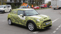 2015 MINI five-door hatchback spied with less camo